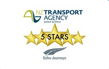 Double Decker Transport Ltd is a licenced 5 star operator with Land Transport New Zealand